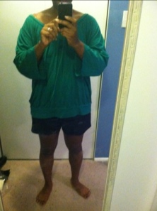 Oversized green shirt
