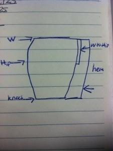 Pencil Skirt Sketch